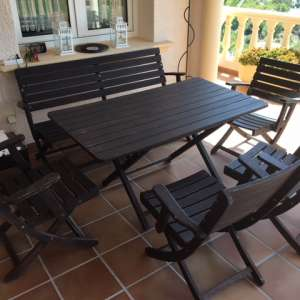 For sale: Table 140x70, 6 Chairs, Oak wood - €100