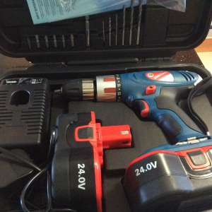 For sale: 24 volt silverline drill with 2 Battery' sold - €80